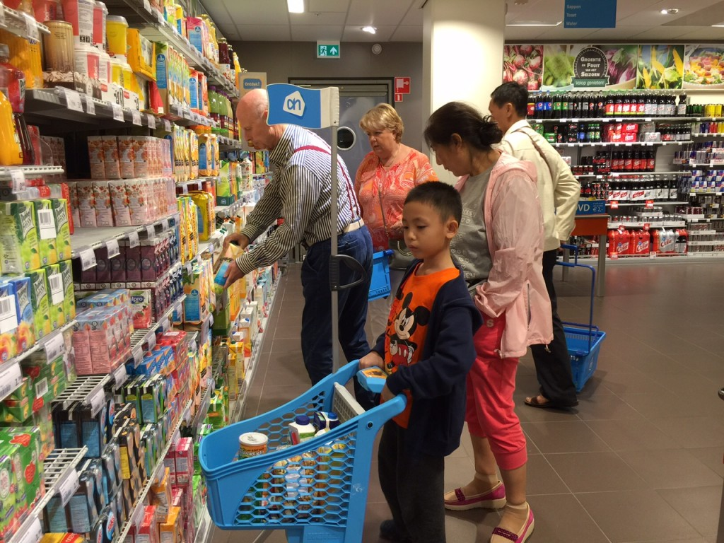 "Shopping at the local ""Park n Shop"" called Albert Heijn"