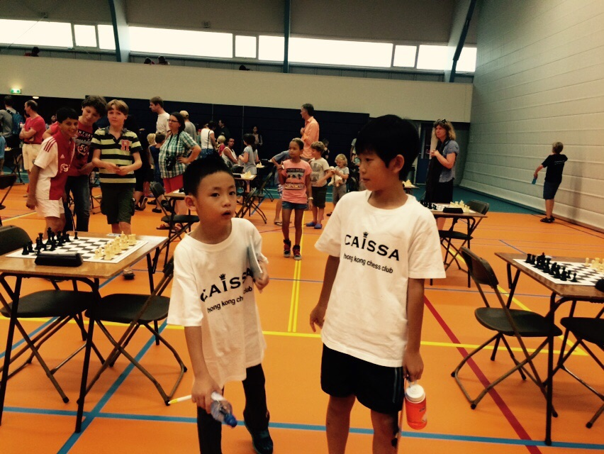 Jin Wen and James before  round 1